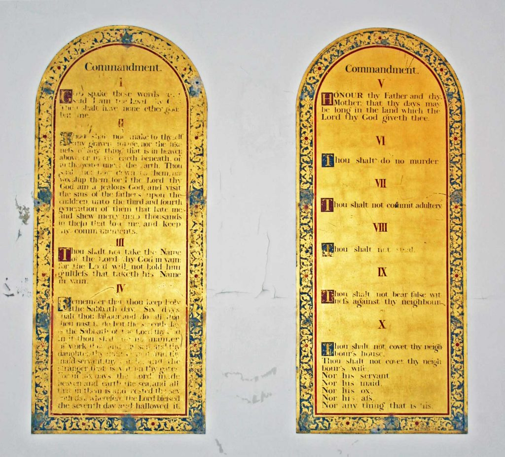 The Ten Commandments Boards