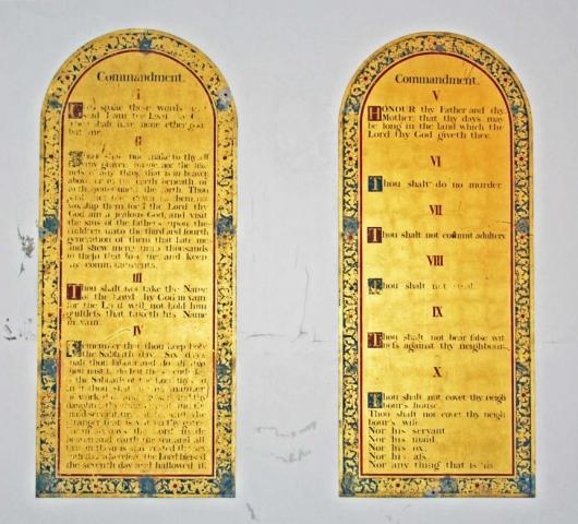 The Ten Commandments Boards