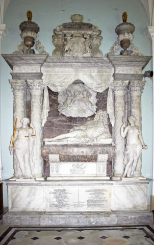 The 1st Duke of Beaufort's Monument by Grinling Gibbons