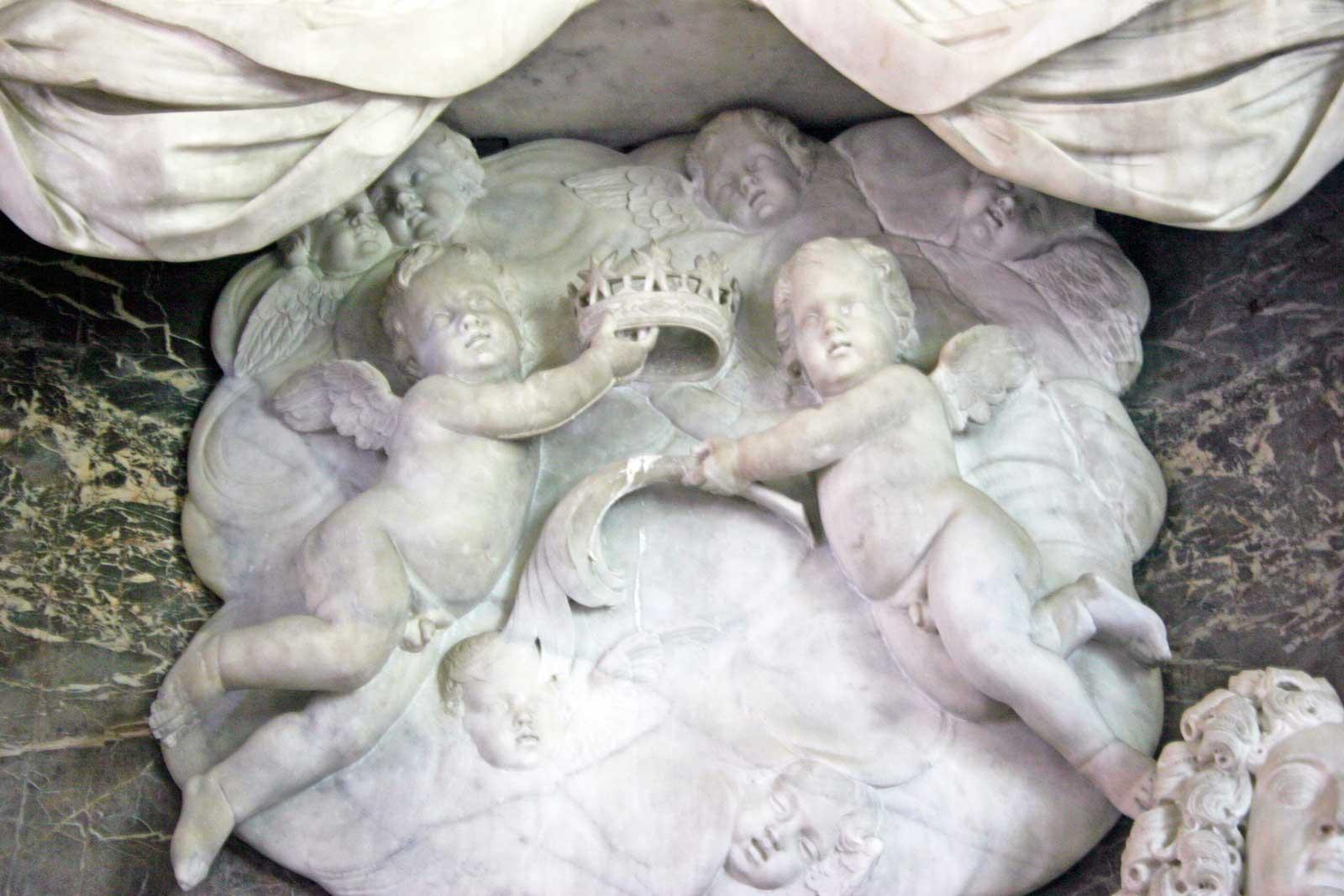The Heavenly Host on the 1st Duke of Beaufort's Monument