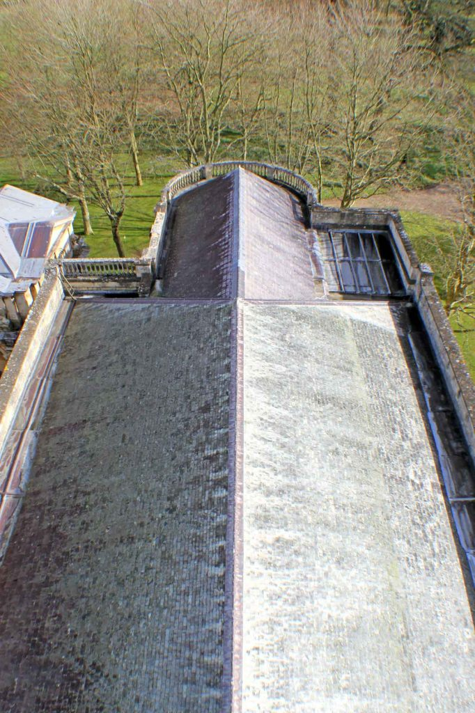 Church Roof Seen from the Top of the Scaffolding
