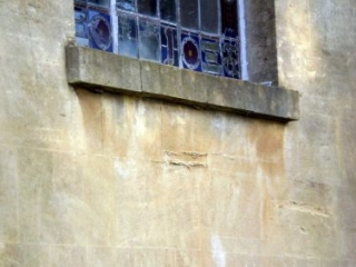Damage to the Stonework of the South Facade