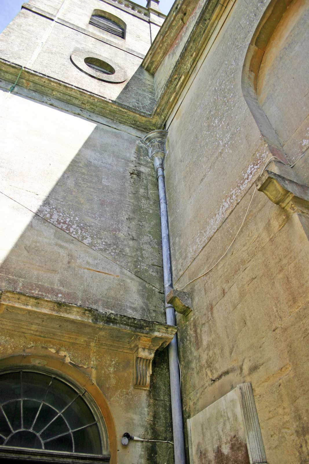 Damage to the Lintel Above the Door of the Outer Porch