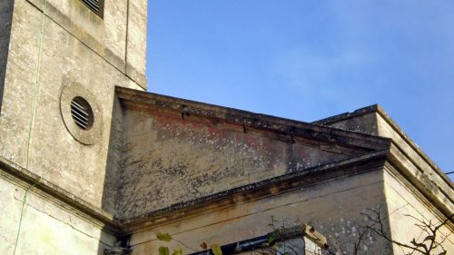 Damage to the Stonework of the Pediment