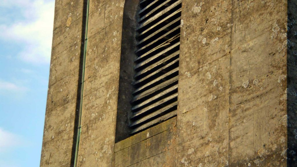 Damaged Sound Louvres