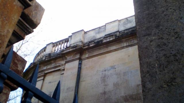 Damaged Stonework Across the Apse