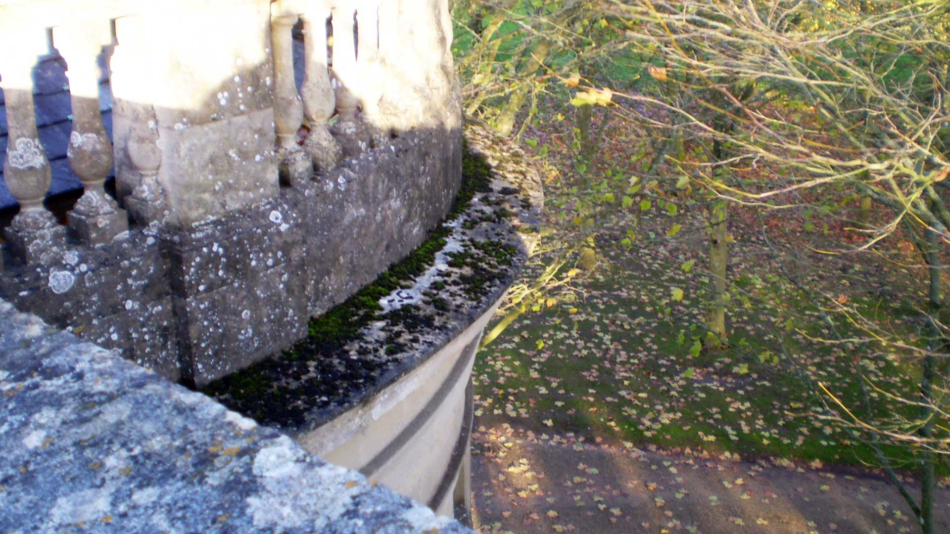 Damaged Stonework on the Apse Balustrade