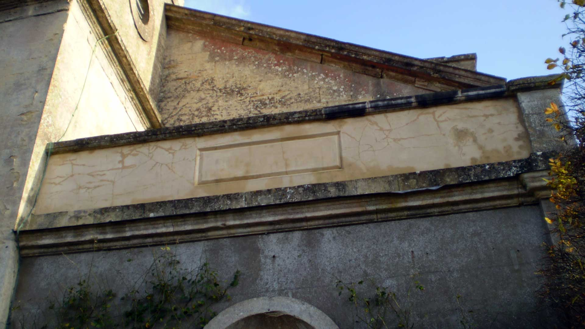 Damaged Stonework on the Exterior of the Outer Porch