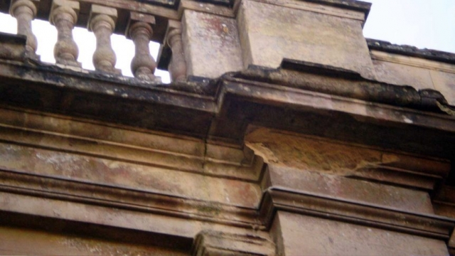 Damaged Stringcourse on the Apse