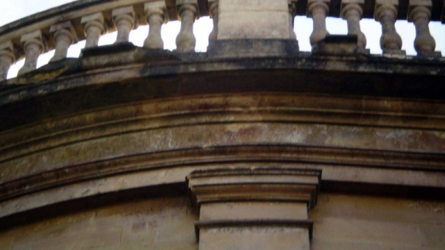 Missing Stonework on the Apse's Stringcourse