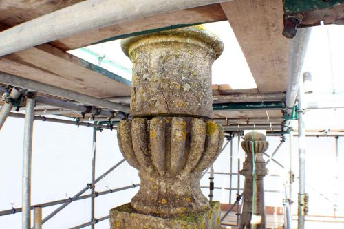 Damage to the Urn of the South-East Pinnacle