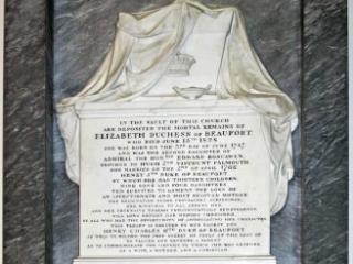 Memorial to Elizabeth, Duchess of Beaufort