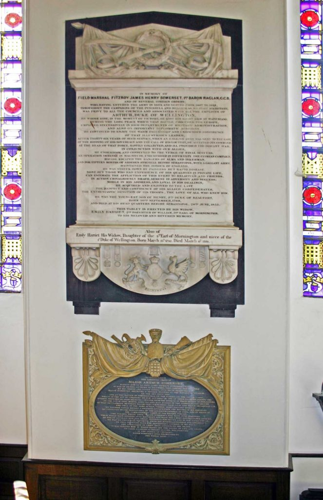 Memorial to Field Marshal Lord Raglan