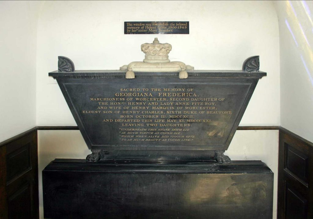 Memorial to Georgina, Marchioness of Worcester