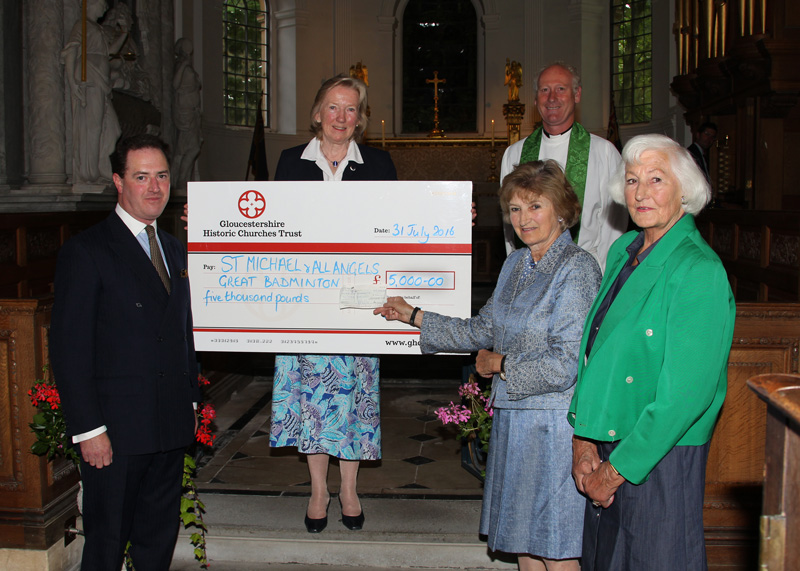 The Presentation of a grant by The Gloucestershire Historic Churches Trust