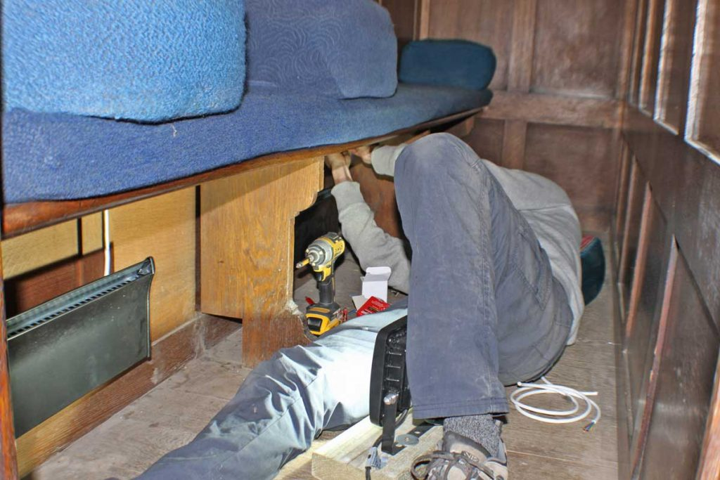 Installing the Under-Pew Heaters