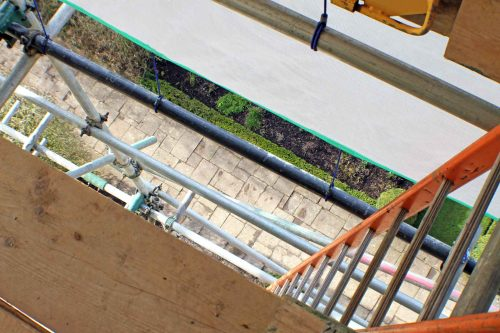 View Down the Lower Scaffolding