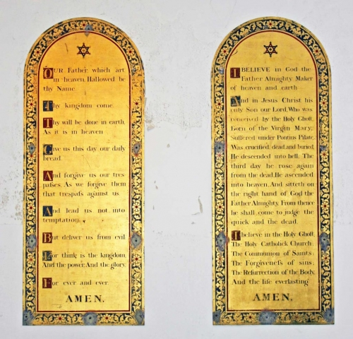 The Lord's Prayer and Creed Boards