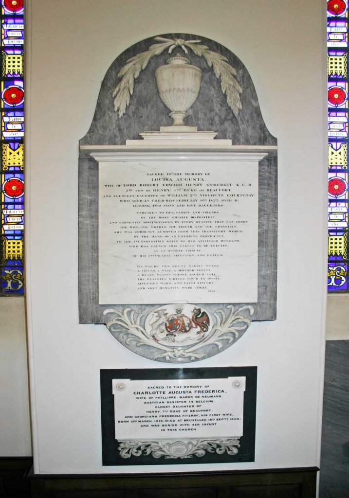 Memorial to Louisa Augusta Somerset