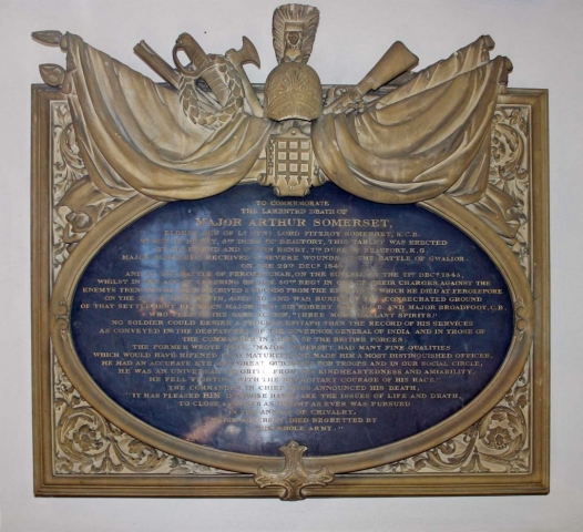 Memorial to Major Arthur Somerset