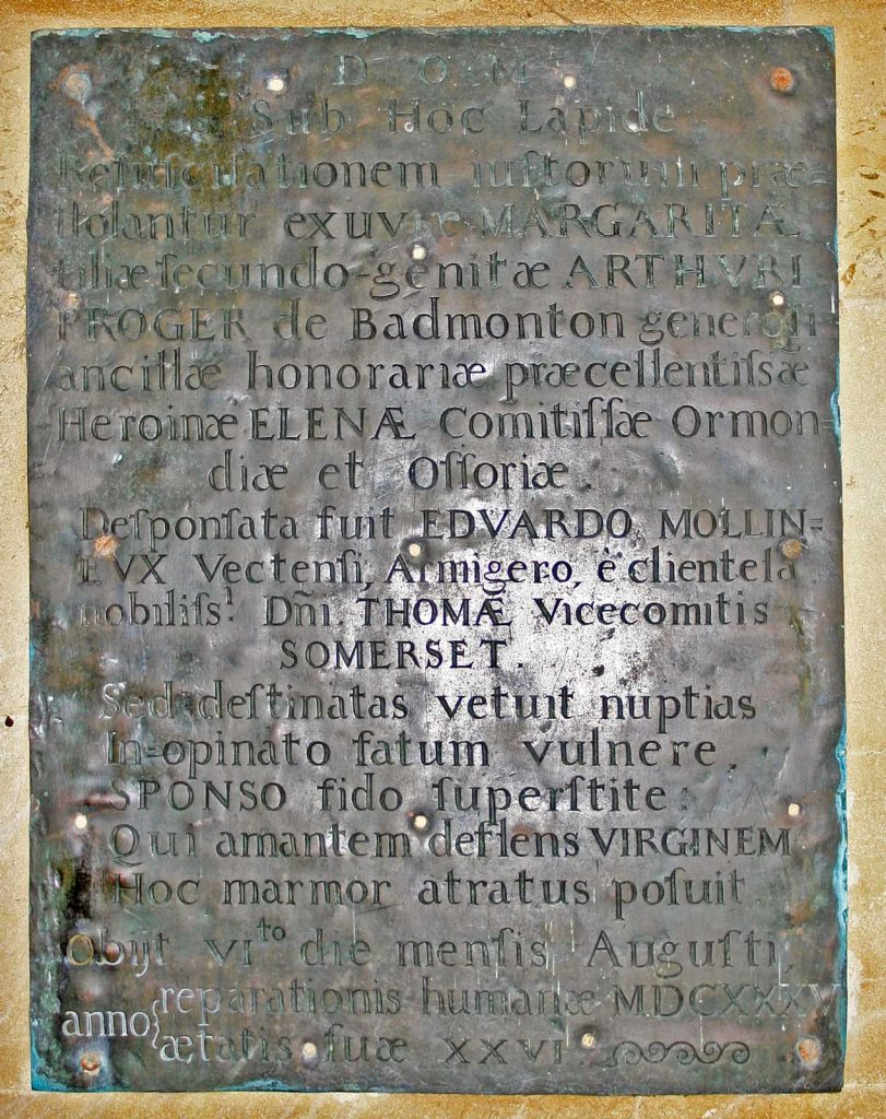 Memorial Plaque From 1630