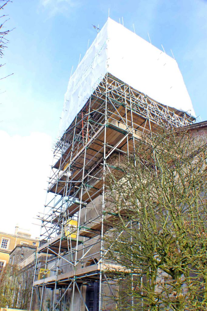 Scaffolding Tower at Great Badminton Church