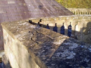Damaged Coping Stone