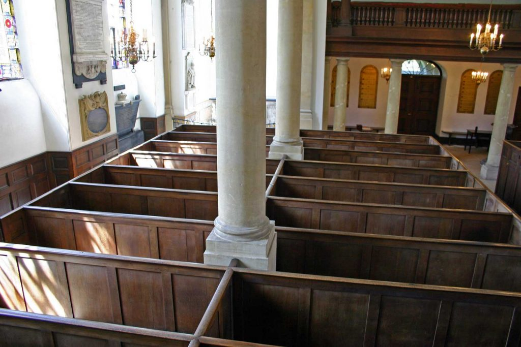 The South Pews Viewed From the Pulpit