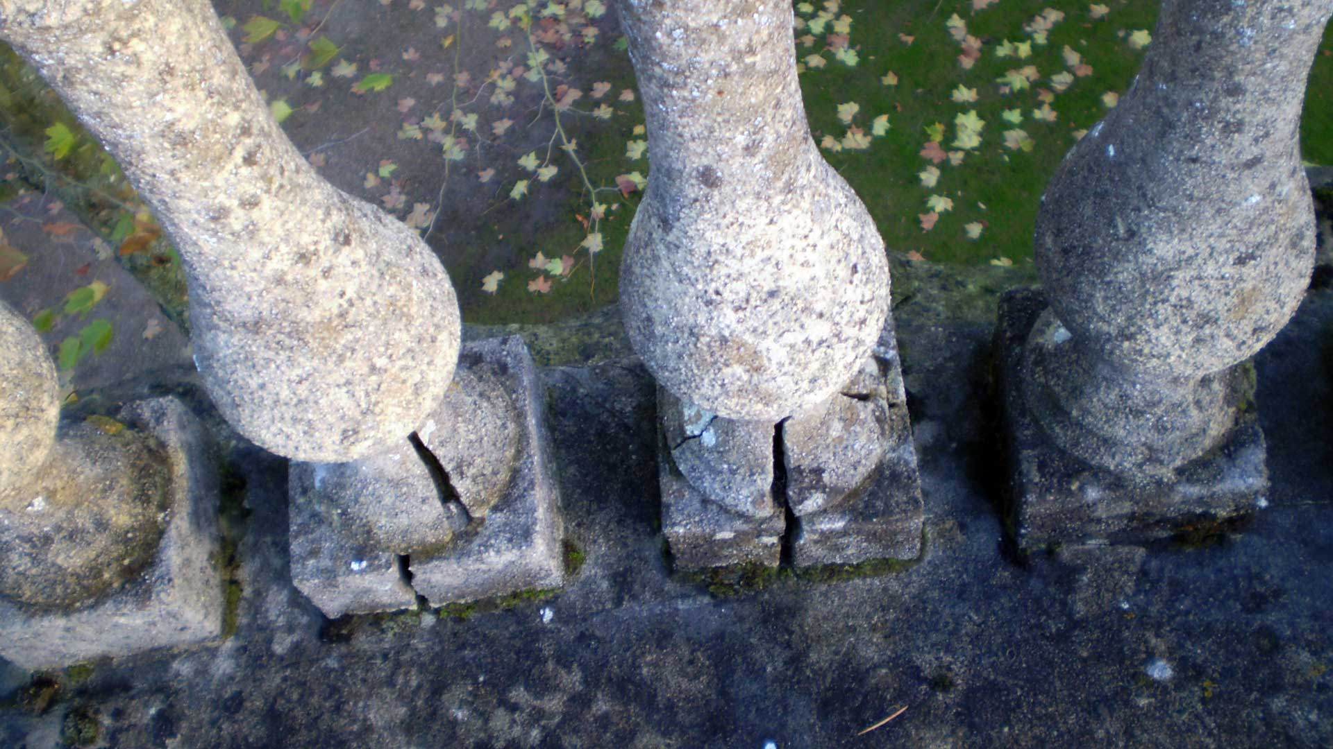 Damaged Balustrades on the Roof of the Nave