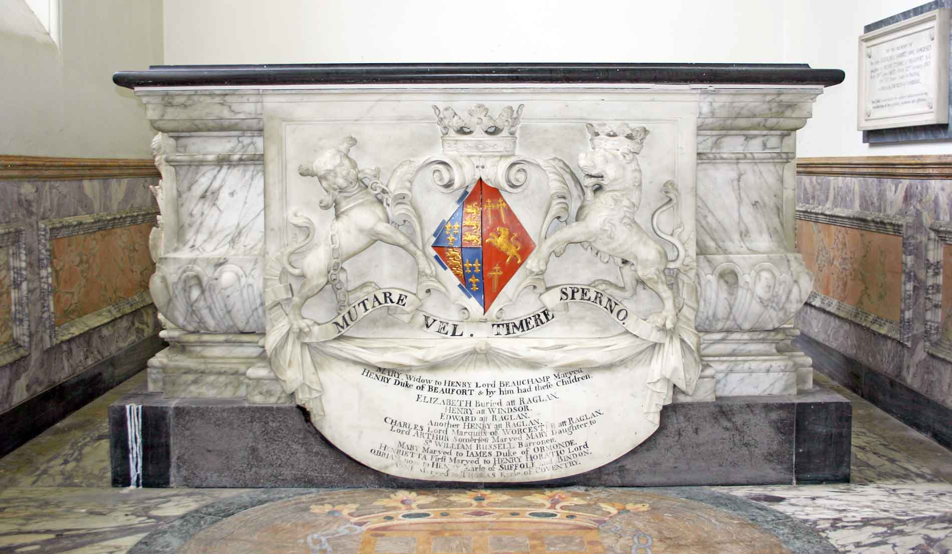 The 1st Duchess of Beaufort's Tomb