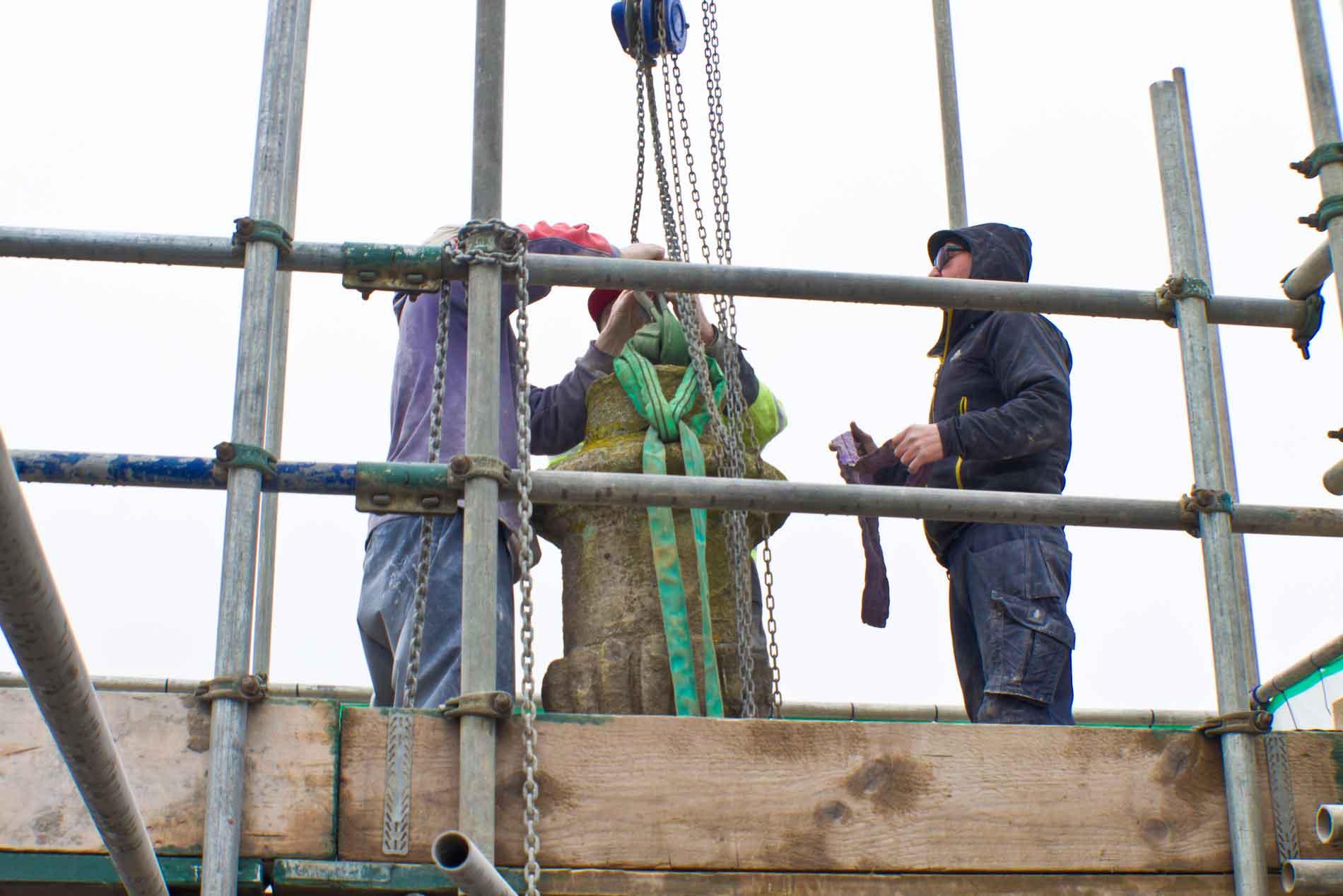 Tightening The Straps Around The Urn