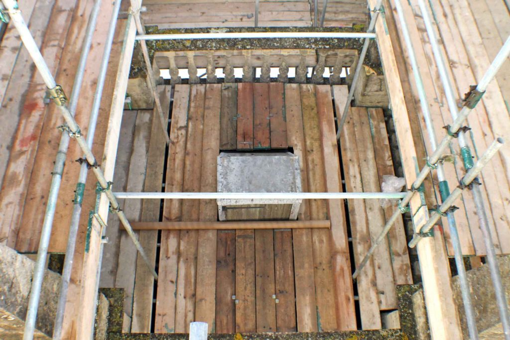 The Tower's Access Hatch Seen From Pinnacle Height