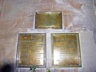 The Badminton War Memorial Plaques