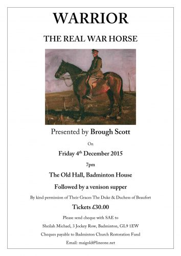 The Real War Horse Talk by Brough Scott