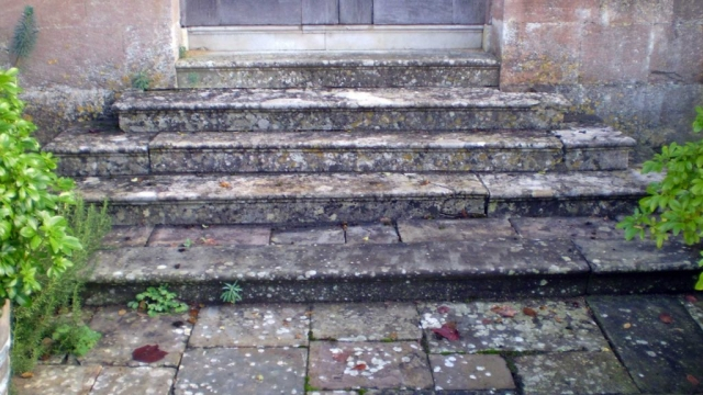 Damage to the West Steps of Great Badminton