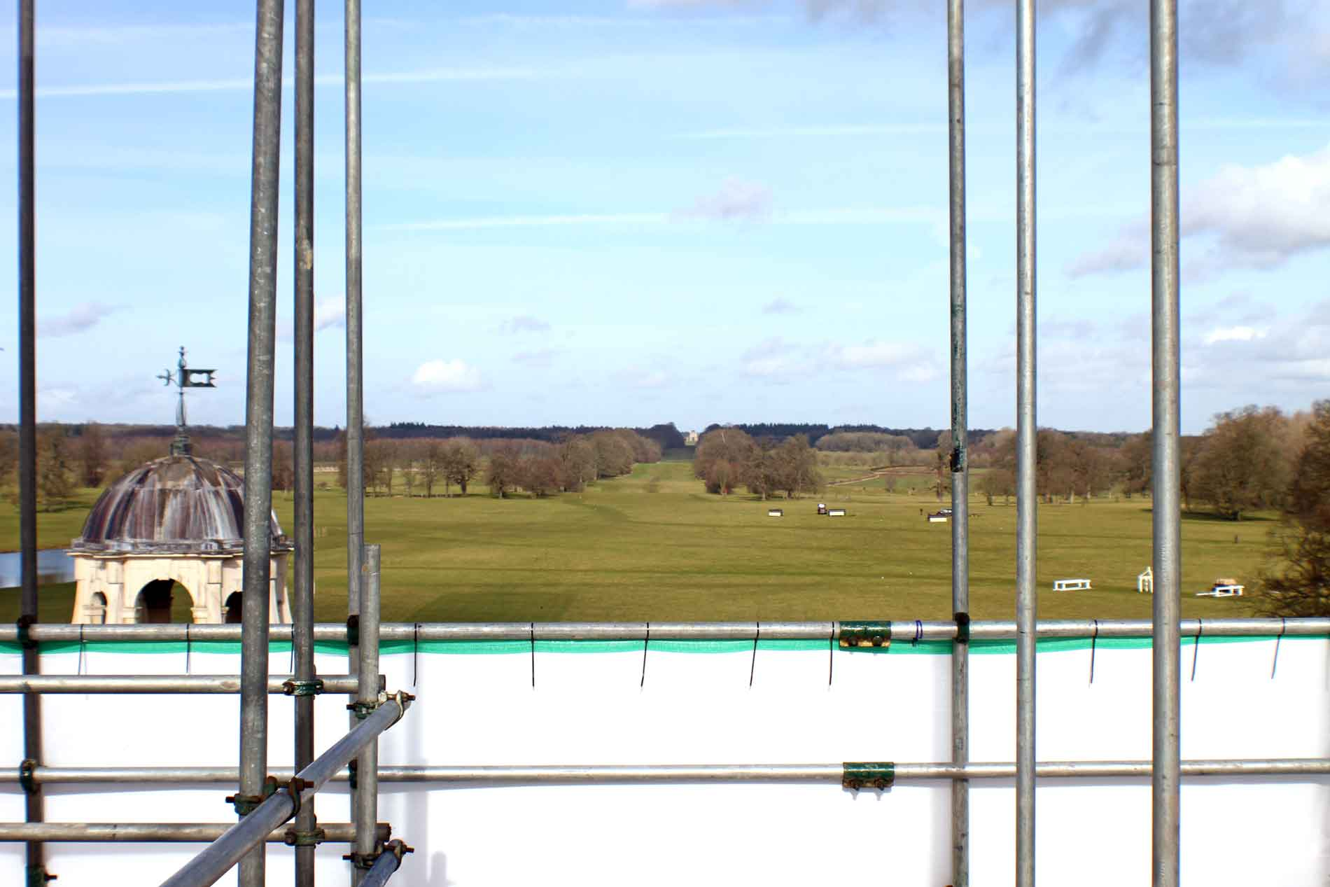 Majestic View of Badminton Park from the Scaffolding